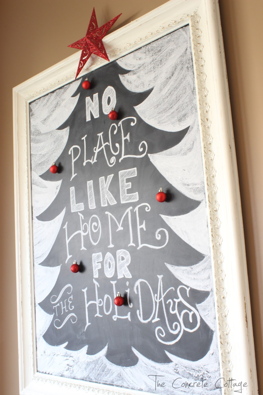 The Concrete Cottage: Christmas Tree Chalkboard