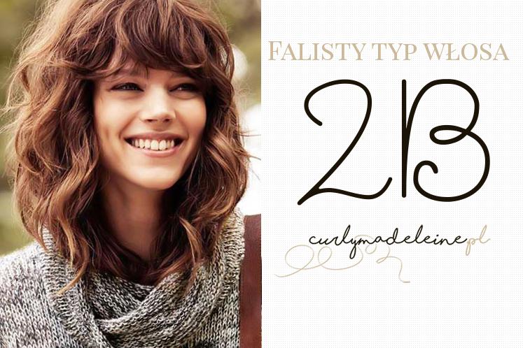 2b typ włosa fale