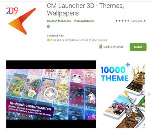 Downloas Mobile CM Launcher 3D