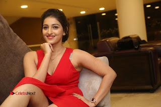 Actress Mouryani Stills in Red Dress at Intlo Deyyam Nakem Bhayam Trailer Launch .COM 0318.JPG