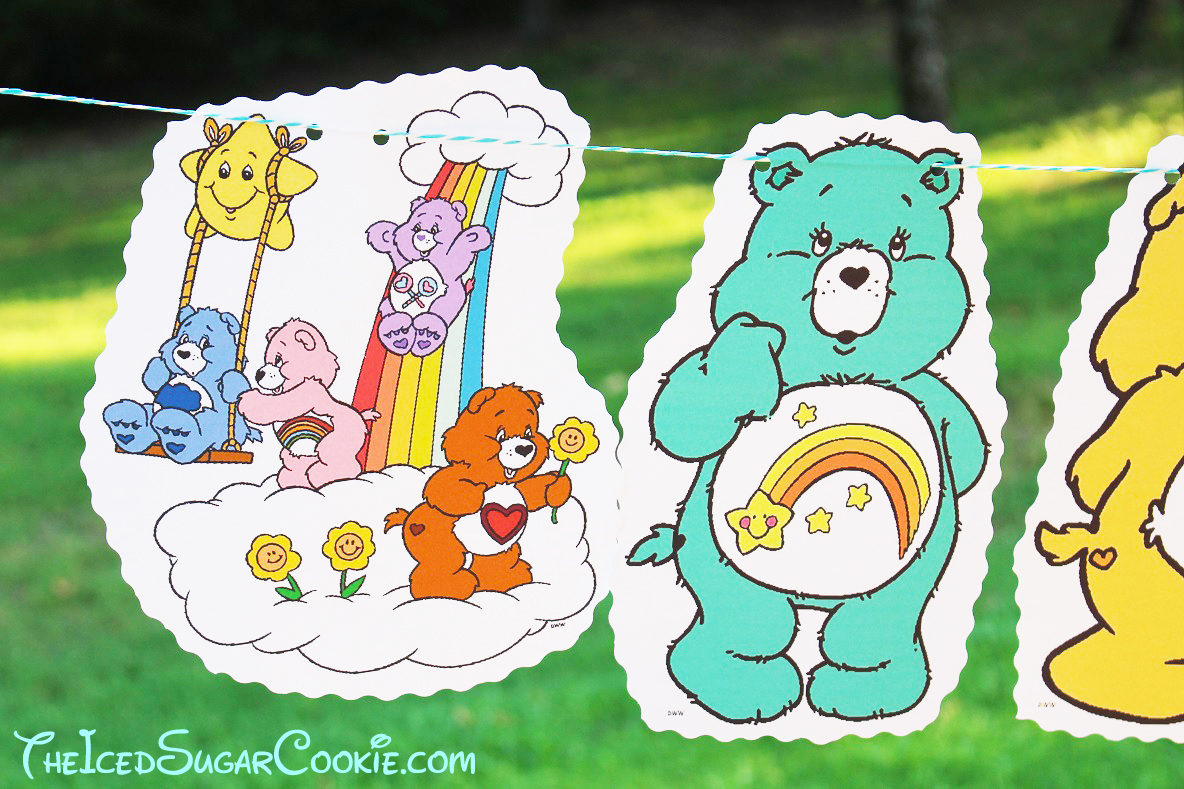 diy birthday blog care bears birthday party banner diy
