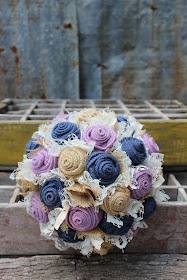 navy and lavender wedding
