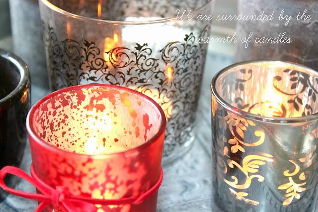 świeczniki we wzory