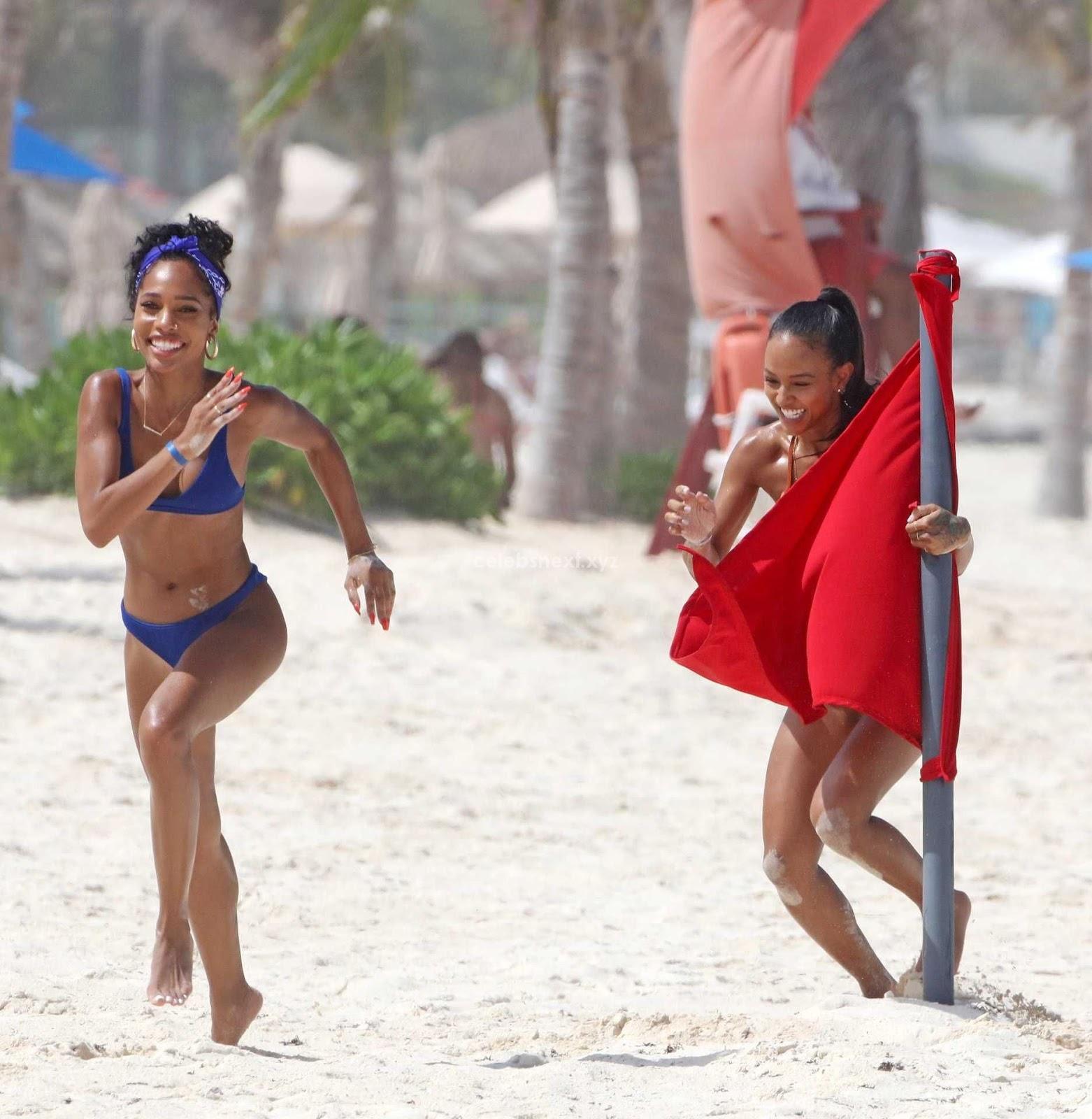 Karrueche Tran in Sexy Red Bikini Booty Beautiful Boobs ass July 2018 ~ CelebsNext.xyz Exclusive Celebrity Pics