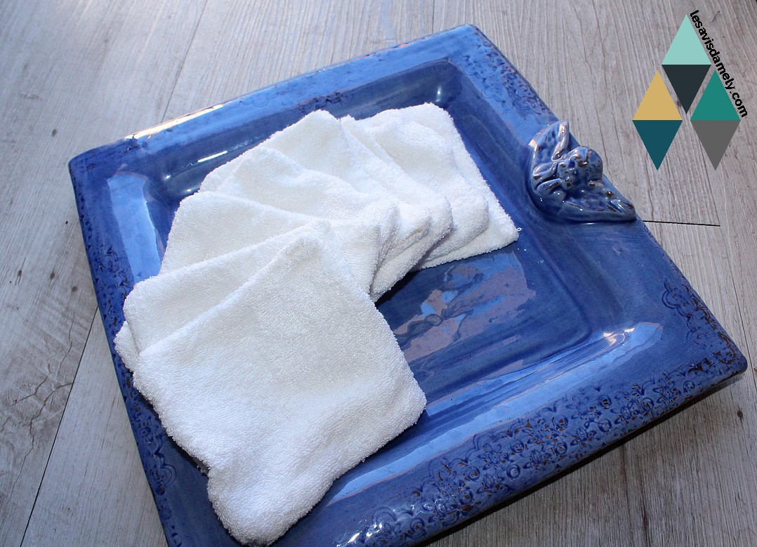 utilisation des lingettes réutilisables et lavables