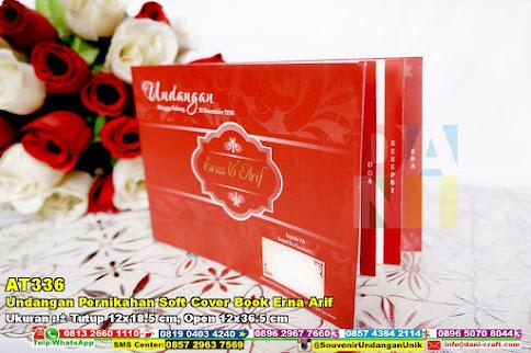 Undangan Pernikahan Soft Cover Book Erna Arif