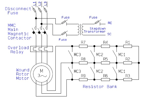 Guide to the Power Circuit and Control Circuit of the Wound Rotor AC Induction Motor