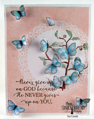 Our Daily Bread Designs Stamp Sets: God Quotes 2, Butterfly Branch, Custom Dies: Fancy Circles