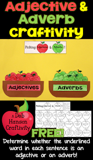 FREE Adjective and Adverb Craftivity