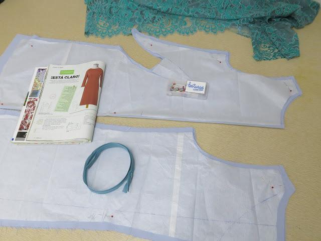 como hacer un vestido sencillo de encaje