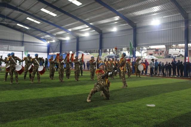Drumband Satgas Yonmek XXIII-M UNIFIL Beraksi di Lebanon