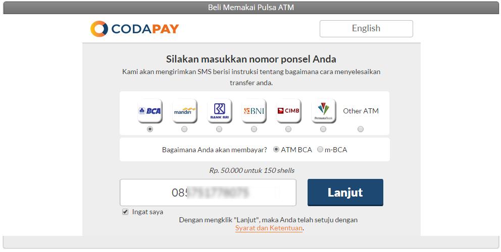 Cara Mudah Membeli Cash PB Garena Indonesia di ATM