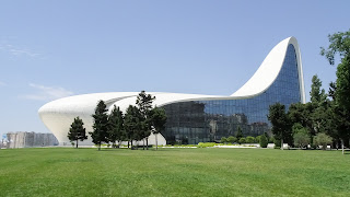 Is a 57,500 m2 building complex. Huge modenr building in Baku.