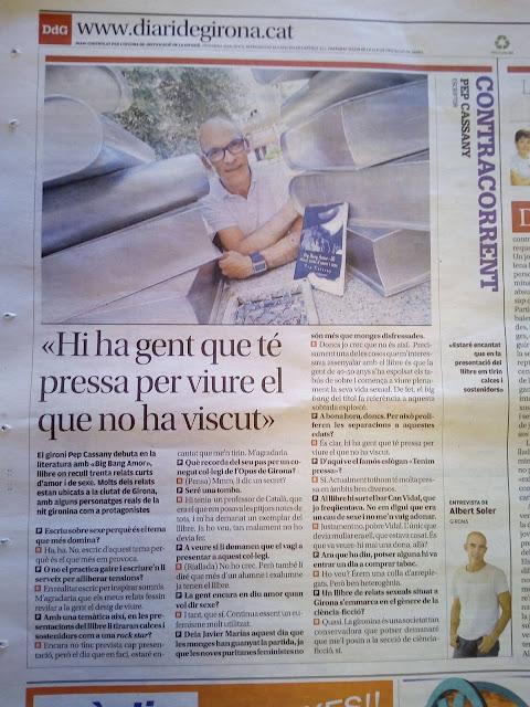 Pep Cassany i el Big Bang Amor al Diari de Girona