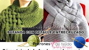 Cómo tejer bufanda con detalle entrecruzado / Tutoriales