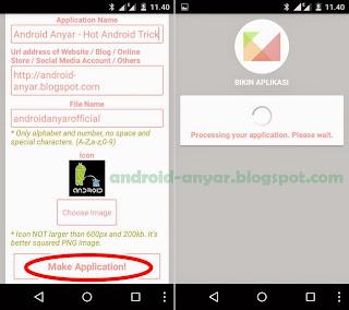 Tutorial bikin aplikasi Android sendiri untuk web/blog toko online