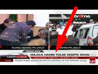 Kasian, Sudah Capek-Capek NANGIS Hakim Tolak eksepsi Ahok karena tidak beralasan menurut hukum