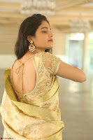 Harshitha looks stunning in Cream Sareei at silk india expo launch at imperial gardens Hyderabad ~  Exclusive Celebrities Galleries 041.JPG