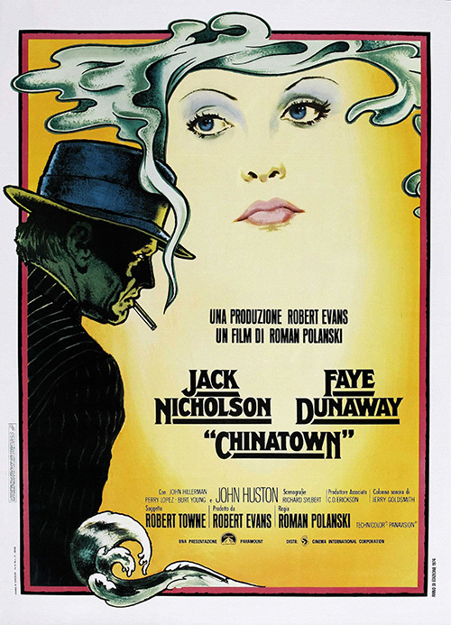 Chinatown - Vintage Classic Movie Poster, classic posters, free download, free posters, free printable, graphic design, movies, printables, retro prints, theater, vintage, vintage posters, vintage printables