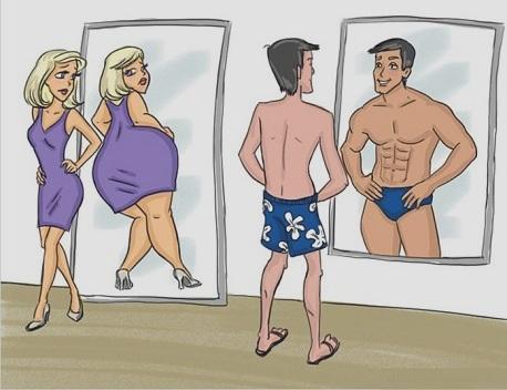 Ảnh hài hước: suy nghĩ của đàn ông luôn khác đàn bà