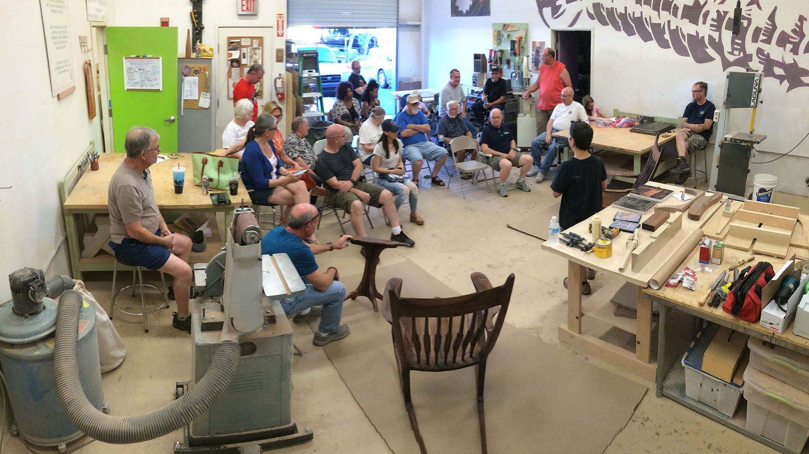 We had a nice intimate gathering this month, when one of our more ambitious members – Lupe Nielsen – presented an amazing pair of Sam Maloof inspired ...