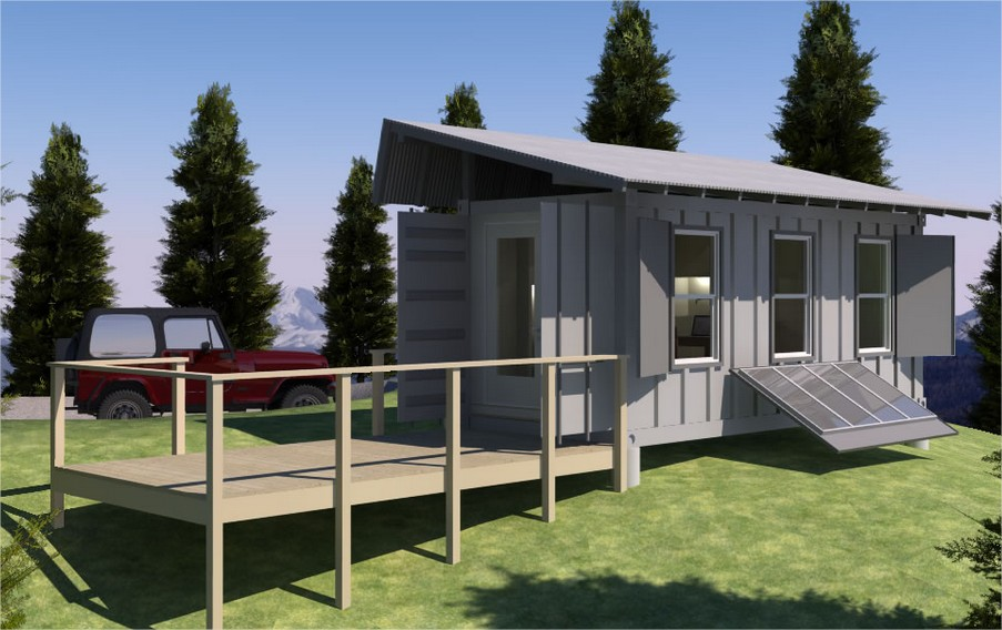 Tiny home made from shipping containers container home - Bithcin shipping container house ii ...