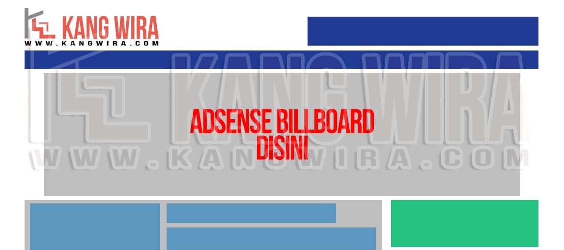 Billboard Banner dibawah Navigasi Menu Blog