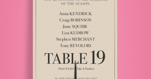 Movie review table 19 for Table 19 review