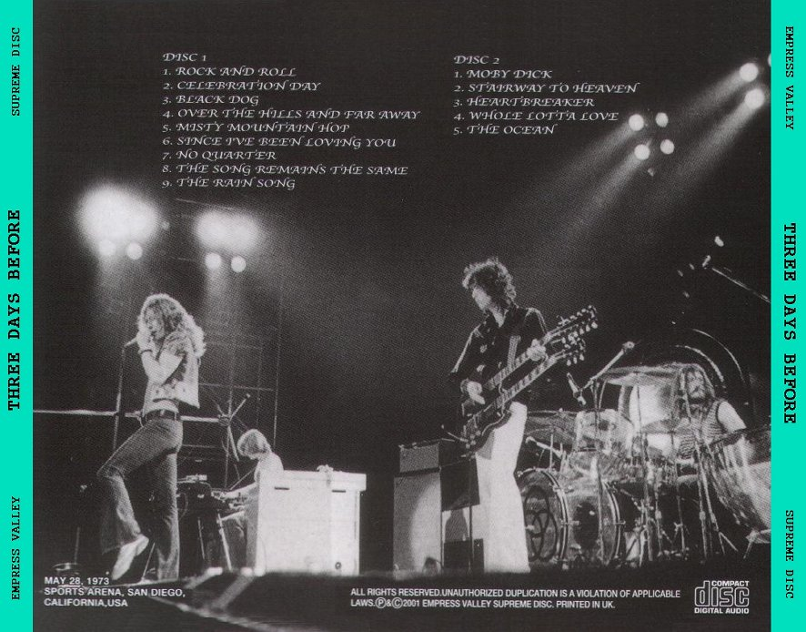 RELIQUARY: Led Zeppelin [1973 05 28] Three Days Before (EVSD) [SBD]