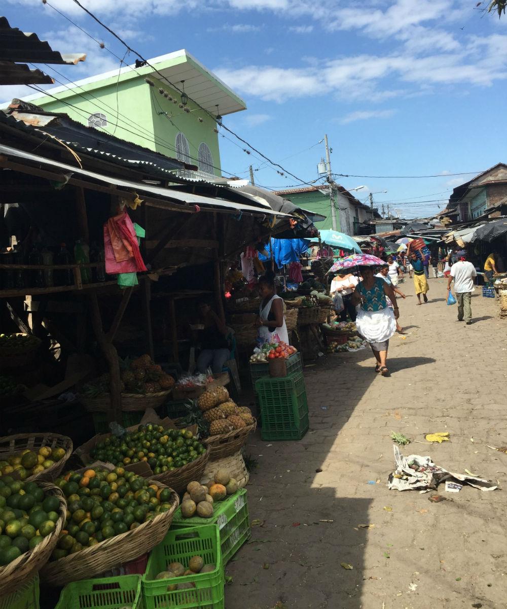 Street market in Granada, Nicaragua