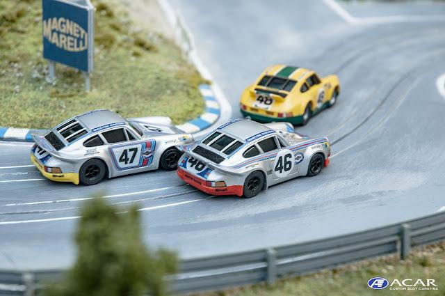 Slotcar Custom Porsche 911 RSR 24h. Le Mans 1973 Martini BP