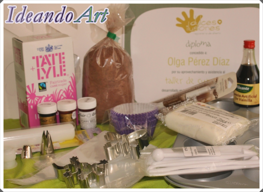 Materiales e ingredientes cupcakes