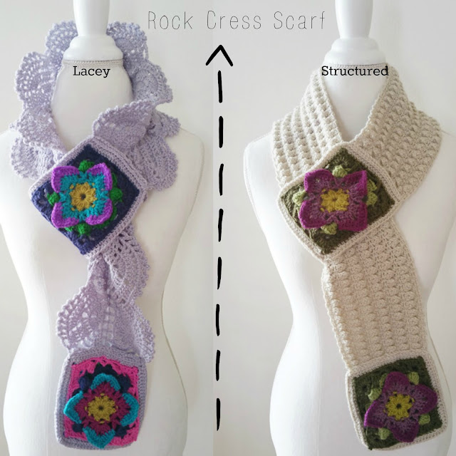 Rock Cress Scarves Crochet Patterns by Susan Carlson of Felted Button