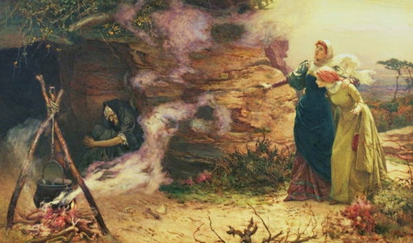 A Visit to the Witch, Edward Frederick Brewtnall, Macabre Art, Macabre Paintings, Horror Paintings, Freak Art, Freak Paintings, Horror Picture, Terror Pictures