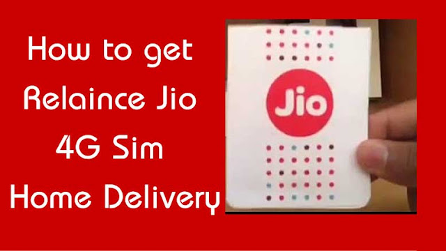 How to get Relaince Jio 4G Sim Delivered at Home : eAskme