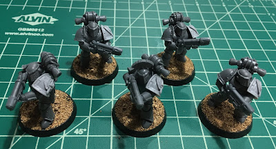 Horus Heresy First Tactical Support Squad WIP mark III plate plasma guns