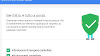 Fai il controllo di sicurezza dell'account Google