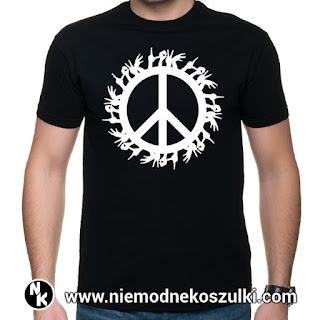koszulka z pacyfką i napisem LOVE