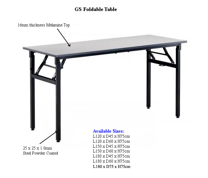 Gs Folding Table Tables Bench