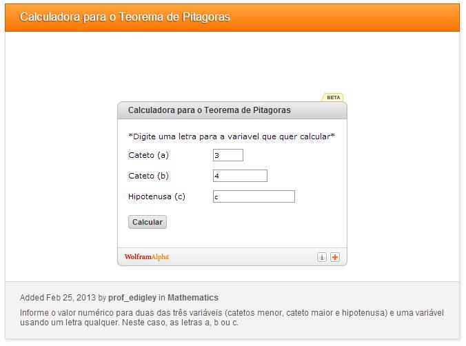 Faça cálculos com o Teorema de Pitágoras usando este widget