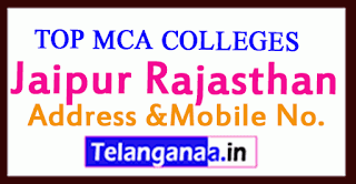 Top MCA Colleges in Jaipur Rajasthan