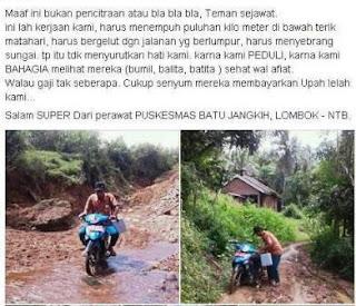 perawat-puskesmas-Batu Jangkih, Lombok - NTB.