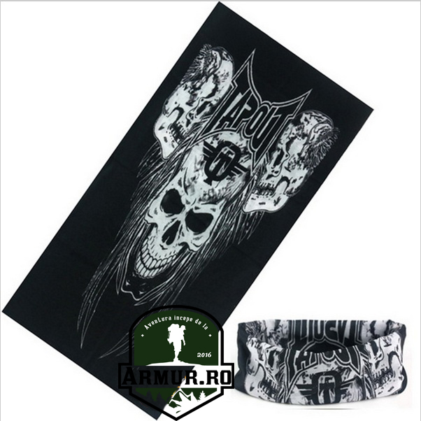 bandana cagula rock punk cap de mort  moto