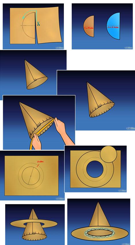 cara mudah membuat topi bundar dari kertas karton