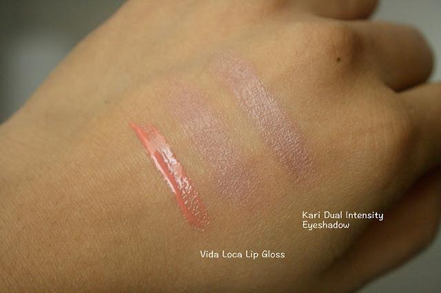 NARS SPring 2016 Color Collection Vida Loca Lip Gloss and Kari Dual Intensity Eyeshadow Swatch