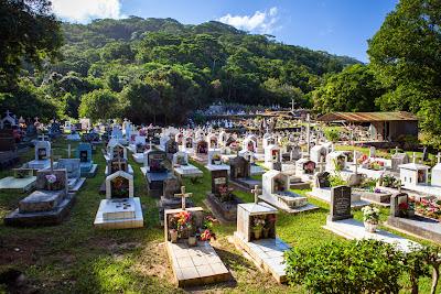 Friedhof auf La Digue, Seychellen