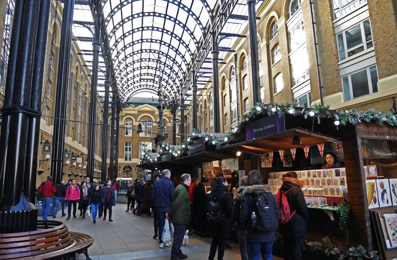 Christmas by the River at Hay's Galleria in London