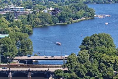 Alster von oben, Hamburg Fotos kostenlos und lizenzfrei
