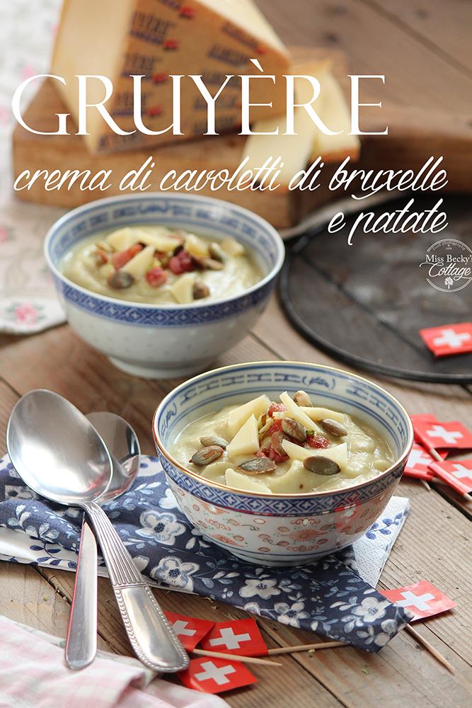 Crema di cavoletti di bruxelles arrostiti, con Gruyère e pancetta affumicata croccante. #noiCHEESEamo! rebeca sendroiu photography