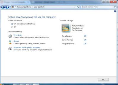Tutorial Cara Mengontrol dan Membatasi Aktifitas User pada Windows dengan Setup Parental Control User